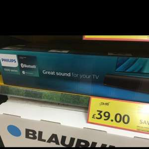 Philips Soundbar HTL1190B £39 @ Tesco