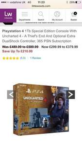 Ps4 1Tb Special Edition Console With Uncharted 4 £299 @ littlewoods ( £5.77 per week intrest free)