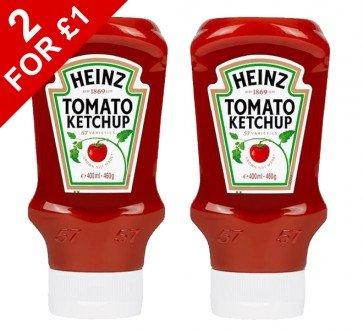 2 x Heinz Tomato Ketchup 460g Squeezy @ poundshop.com for £1 P&P