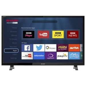 Sharp  48 inch LC-48CFF6001K Smart Full HD 1080p LED TV with Freeview HD at Tesco Direct at £279