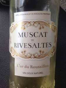 Lidl Muscat De Rivesaltes reduced to £3.49 per bottle.