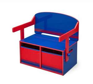 Delta Children 3-in-1 Storage Bench and Desk (Blue/Red) open box very good @ Amazon - £17.42 (Prime)