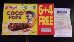 Cocopops Snack Bars 6+4free for £1.00 in Iceland Stores