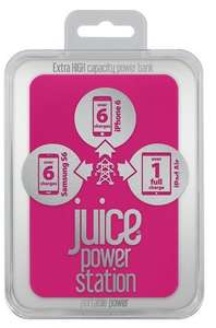 JUICE Power Station Portable USB Power Pack - Pink £12.50 @ Currys