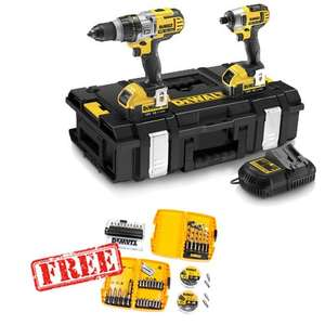 Dewalt xrp twin set  Combi Drill and Impact Driver Twinpack £284.99 @ Dibranto