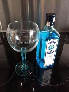 Bombay Sapphire 700ml with Free Glass (£8 separately) £17 at Asda