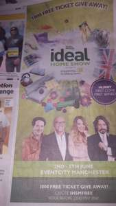 1000 free ticket give away for Ideal Home Show at EventCity, Manchester
