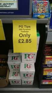 Pg Tips 240 for £2.85 @ One Stop