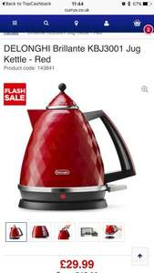 Delonghi Brillante KBJ3001 Jug Kettle £29.99 - Red at Currys