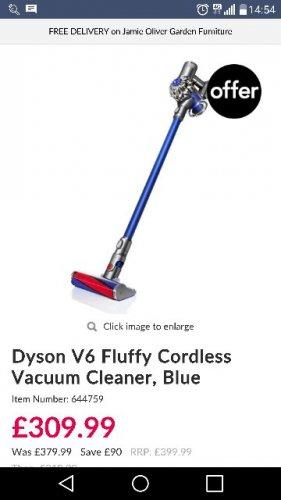 Dyson V6 Fluffy at Leekes - £309.99