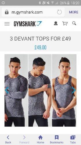 free devant vest when purchasing decant tee £26 delivered @ Gymshark