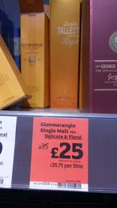 Glenmorangie Single Malt 70cl £25 @ Sainsburys