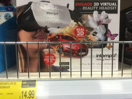 Intempo 3D Virtual Reality Headset @ B&M - £14.99