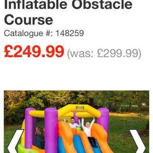 inflatable obstacle course with blower and free delivery £249.99 - Smyths toys