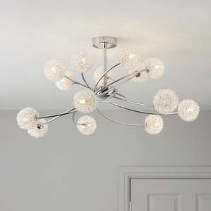 Pallas Silver Chrome Effect 14 Lamp Ceiling Light, £67 for 4 days (usually £95).@ B&Q