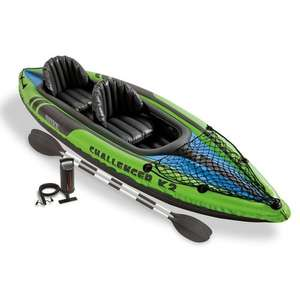 Intex K2 Challenger Kayak 2 Man Inflatable Canoe with Oars #68306, £64.83 From Amazon