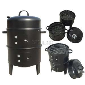 3 Layer Steel BBQ Charcoal Grill Barbecue £31.90 delivered at kmsdirectshops/ebay
