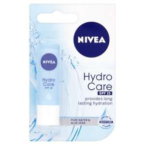 Nivea Lip Hydrocare / Essential Care 4.8g / Nivea Crème 50ml - Buy 3 for £2 @ Morrisons