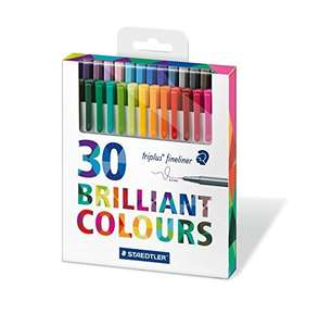 Staedtler 334 C30 Triplus Fineliner - Assorted Colours, Pack of 30 Amazon (prime, add-on) £4.50 (add on item / £20 spend)