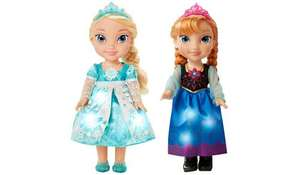 Disney Frozen Snow Glow Singing Sisters Elsa and Anna Exclusive Dolls - 2 Pack was £80 now £40 C+C @ Asda George