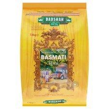 Badshah Superior Aged Basmati Rice 7.5Kg  £6.00(£0.80/kg) at TESCO