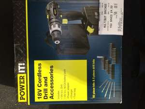 Power it! 18V Cordless Drill and Accessories @ Asda Dartford for £12.50 reduced from £25