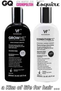 Watermans Shampoo and Conditioner 50% off Wowcher offer