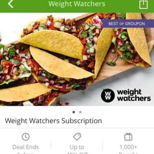 half price 3 month subscription to weight watchers. online or at meetings £18.50 groupon