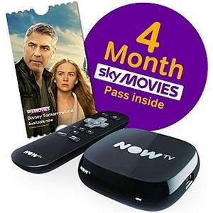 Now TV with 4 Month Movie Pass 453/6886 £19.99 Argos