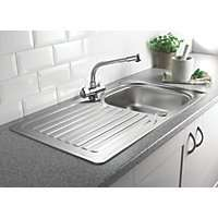 Franke 1 Bowl Kitchen Sink with Tap & Drainer £89.99/ 1 1/2 Bowl £99.99  @ Screwfix