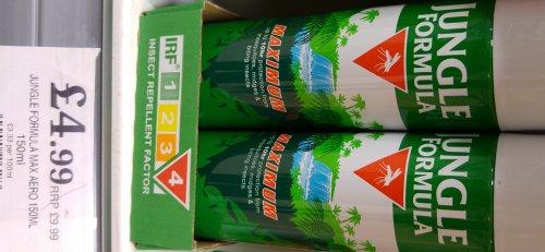 Jungle Formula Maximum Insect Repellent - 150ml @ Home Bargains - £4.99