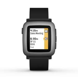 Pebble Time Smartwatch - Black £79 @ Amazon