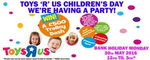 Toys r Us Children's Day Party - 30 May - 12 noon till 3pm (including free Lego make & Take)