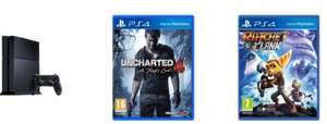 PS4 500GB + Uncharted 4 + Ratchet & Clank £259.99 @ Smyths
