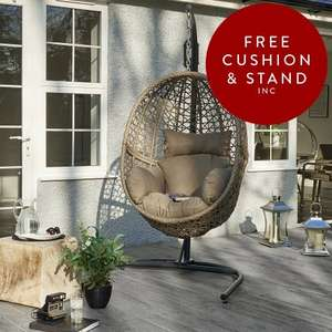Hanging Pod Seat with Stand 60% Off Code: ABN25MAY16 £417 @ Wallace Sacks