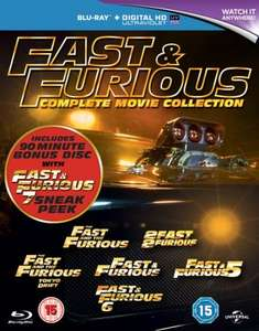 Fast & Furious 1-6 + Furious 7 Sneak Peek Blu-Ray £9.00 [Using Code] @ Zoom via Rakuten
