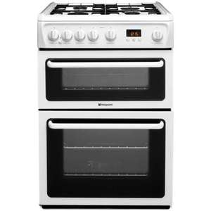 Hotpoint HAG60P 60cm Double Oven Gas Cooker with 4 Burners and Timer in White £243 with code @ CO-OP EBAY