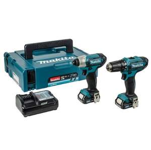 Makita Drill Set 10.8v CXT Slide Twin Pack Drill Driver  / Impact Driver £112.13 Delivered / MAKITA DBO180Z Orbit sander body £76.51 @ PowertoolWorld (using code)