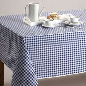 PVC Gingham Tablecloths in Taupe, Grey, Red or Blue (was £12) now £6.00 delivered (with code) at La Redoute
