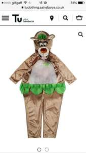 Disney Jungle Book Balloo the Bear kids fancy dress costume  from £5.25 at  sainsburys (plus £3.95 delivery or free click and collect on orders over £15)