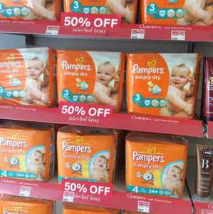 pampers nappies 24 size packs £2.25 at Well Pharmacy Bideford