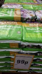 Bulrush multi purpose compost 20 litre - 99p @ Netto