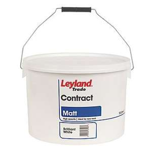 LEYLAND TRADE CONTRACT MATT EMULSION PAINT BRILLIANT WHITE or MAGNOLIA 10LTR  £14.89 or 2 for £22 at screwfix