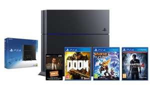 PS4 500GB + Uncharted 4: A Thief's End Launch Edition + Doom + Ratchet & Clank + 3 Months Now TV £269.99 @ Shopto / eBay