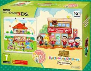 New Nintendo 3DS Console + Animal Crossing Happy Home Designer + Coverplate £119.99 @ Smyths