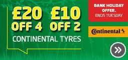 £20 off 4 Continential Tyres or £10 off 2 @ ATS Euromaster