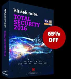 Bitdefender Antivirus, Internet Security and Total security 2016 £14.99 @ Bitdefender