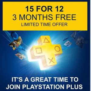 15 months PS Plus £39.99 (£2.66 p/m) (£35 if you use method in description) @ Playstation Store