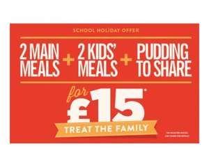 2 Main meals 2 Kids Meals and a candy mania pudding to share £15 (Sign up to news letter £5 off £15 spend possibly making it £10) @ Hungry Horse this bank Holiday