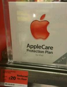 AppleCare iPad Protection Plan £20 @ Sainsbury's instore
